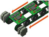 Dual belt conveyor